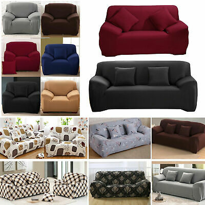 1/2/3/4Seater Elastic Sofa Cover Slipcover Settee Stretch Floral Couch Protector