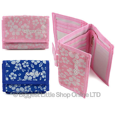 Unisex Floral Wallet Canvas TriFold Change Section by SPIRIT 2 Colours