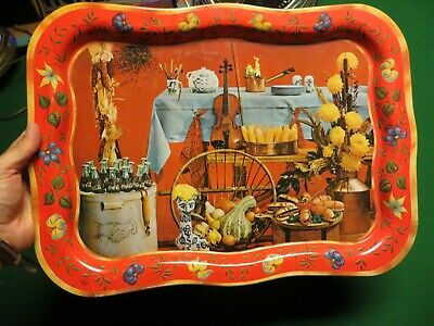 Very Old Coca-Cola Soda Pop Advertising Unusual Large Colorfull Serving Tray