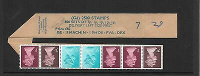 Machin - 10p  G4 2500 coil leader + 7 stamps - roll 7 - unmounted mint