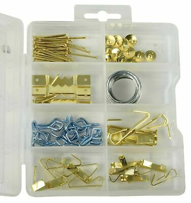 100 Pieces Photo Frame Hanging Hooks Kit Picture Frame Hook Frame Picture Hanger