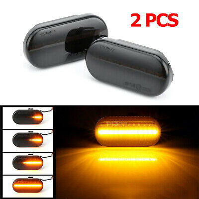 2× Dynamic Flowing LED Side Marker signal Light Indicator Repeaters For VW T5 UK