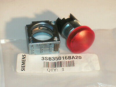 Siemens 3Sb3501-6Ba20 22Mm Pilot Light W/Concentric Ring Red 3Sb35016Ba20