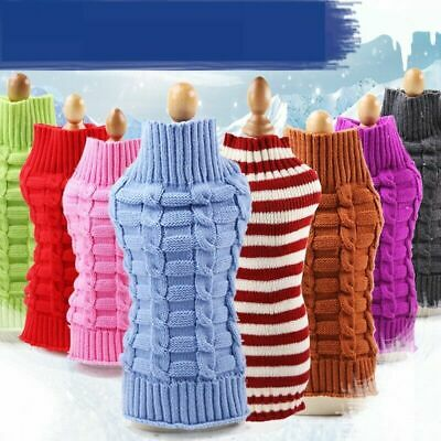 Large Small Cute Pet Dog Cat Knitwear Outdoor Wild Puppy Coat Sweater Clothes