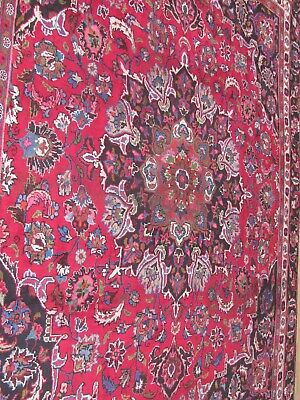 A MAGNIFICENT OLD HANDMADE TRADITIONAL ORIENTAL CARPET (350 x 260 cm)
