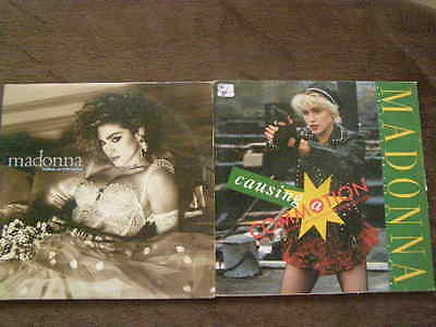 2 Lot MADONNA Pop Rock Music Record Albums Like Virgin Causing Commotion