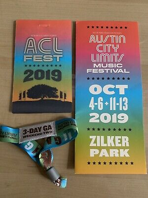 1 - Austin City Limits Weekend Two - 3 Day General Admission 2019 ACL