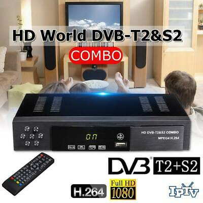 DVB-T2+S2 Combo HD 1080P Tuner Decoder Satellite TV Receiver HDTV Set-top Box ~