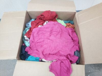 Brand Name 135-25N 25 Lb Recycled Assorted T-Shirt Cloth Rags