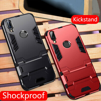 Heavy Duty Armour Stand Case Shockproof Cover For Huawei Y6 Y7 Y9 P Smart 2019