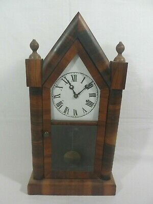 Large American Antique Wooden Pendulum Mantle Clock