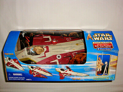 "Star Wars 3.75"" Obi-Wan Kenobi""s Jedi Starfighter from Episode II ATOC, NEW 2002"