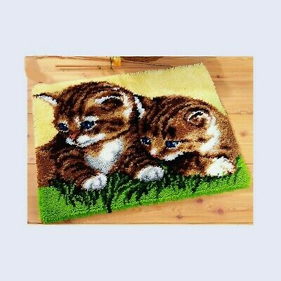 TABBY KITTEN CAT LATCH HOOK RUG KIT from UK Seller, BRAND NEW