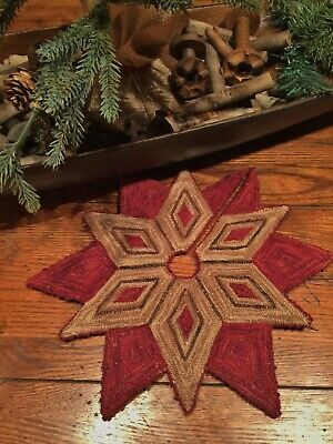 Primitive Punch Needle Pattern ~ The Christmas Star