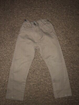 Boys TU Beige Chino Trousers Age 4 Years Excellent Condition.