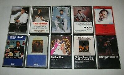 Lot of 10 Cassette Tapes R&B,SOUL,BLUES,BLACK - MICHAEL,TINA,CHAKA,B.B.,LIONEL,Z