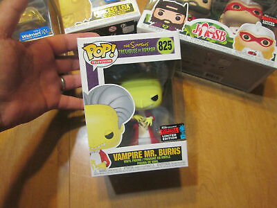 Funko Pop Vampire Mr Burns 825 The Simpsons Treehouse Of Horror Nycc 2019