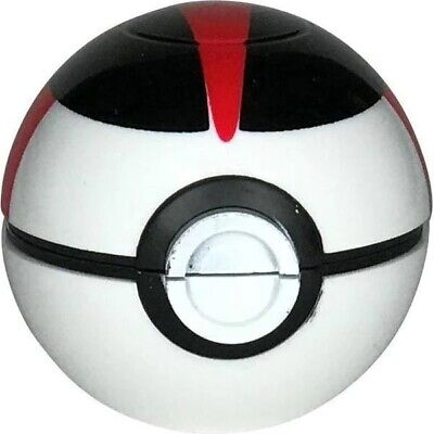 Collectors Edition Pokemon Pokeball 3 Piece Herb Grinder 55mm 2.2inch (Black)