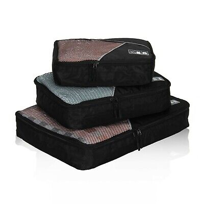 Packing Cubes Organizer Bag Travel Accessories Compression for Luggage 3PCS Set