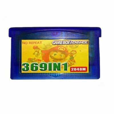 369 Games in 1 Cartridge Multicart for GBA NDS GBA SP GBM NDS NDSL