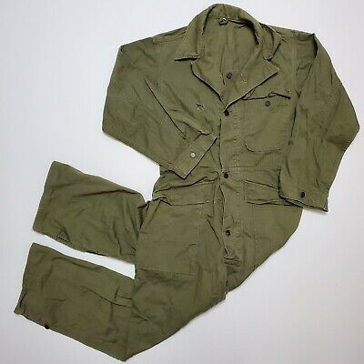WW2 HBT Twill Herringbone Coverall 13 Star Uniform Vintage 1940s 38R Military OG