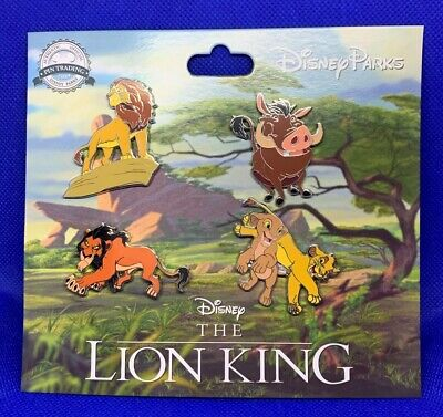 Disney Parks 4 pin set LION KING - booster pack -  NEW 2019