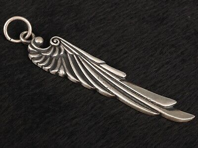 Precious Chinese 925 Silver Solid Silver Real Silver Pendant Statue Wing Mascot