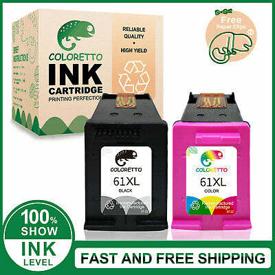 Combo Black & Color Ink Cartridge For HP #61 61XL Envy 4500 4505 5530 5535 5539