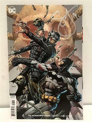 NYCC 2019 The BATMAN WHO LAUGHS # 7 Var. Signed by Scott Snyder & JOCK with COA