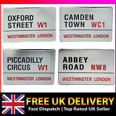 London Street Road Signs Fridge Magnets Souvenirs Westminister UK England GB SET