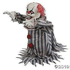 Halloween Animated Jumping Lunging Clown  Prop Decoration Haunted House