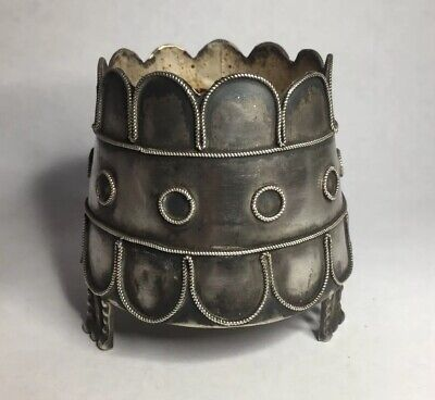Antique Silver Vase Footed Pot Eastern?,Ottoman?,tests as silver