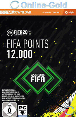 FIFA 20 - 12000 FUT Points Key - PC EA Origin Download Code - Regionalcode-frei