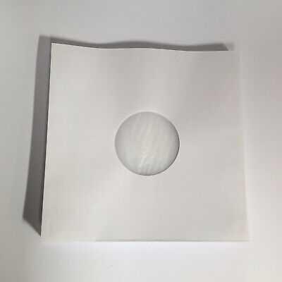 """LP/12"""" Anti-Static Poly lined White Inner Paper Record Sleeves, Pack of 50"""