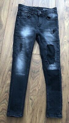 Next Dark Grey Black Fade Skinny Torn Worn Look Jeans 11 Yrs Immaculate