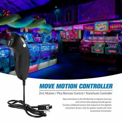 2in1 Motion Plus Remote Control + Nunchuck Controller for Nintend Wii Game mn