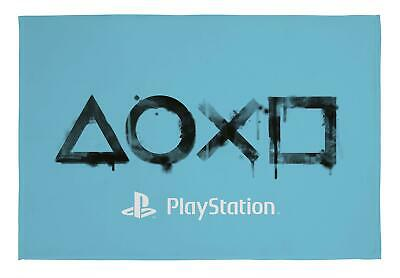 Official Sony Playstation Inkwash Fleece Blanket Bed Throw Matches Bedding