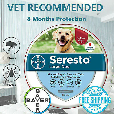 Bayer Seresto Flea &Tick Collar for large Dog over 18lbs,8 Month Best Protection
