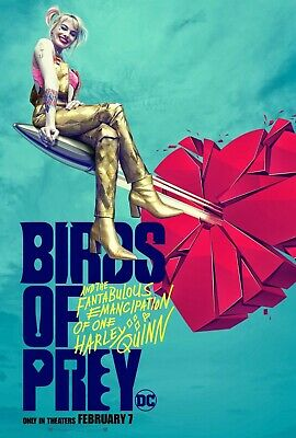 "Birds Of Prey Movie Poster (e) -  Margot Robbie - 11"" x 17"" - Harley Quinn"