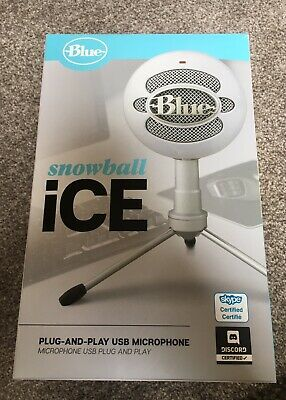 Blue Microphones Snowball ICE White USB Microphone. Brand New.