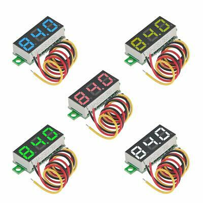 "5pcs Digital DC 0.28"" LED Voltmeter Gauge Tester Reverse Polarity Protection US"