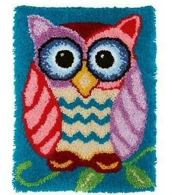 CARTOON OWL BIRD LATCH HOOK RUG KIT from UK Seller, BRAND NEW