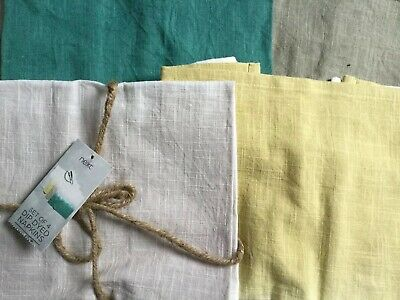 Next - Pack Of 4 Napkins In Dip Dyed Coloured Squares - 100% Pure Cotton - Bnwt