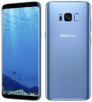 New In Box Samsung Galaxy S8 + Plus 64GB Coral Blue Unlocked for ATT T-Mobile