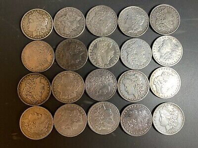 Pre 1921 Silver Morgan Dollar Cull Lot of 20 S$1 Coins *Credit Card Payment Only