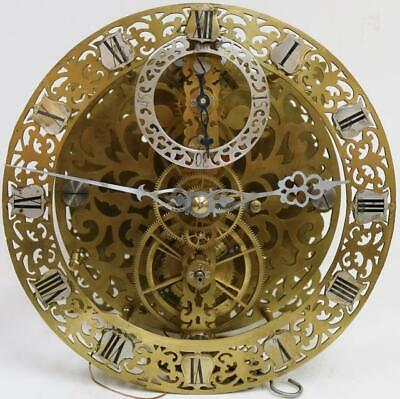 Antique English Skeletonised 8 Day Precision Regulator Longcase Clock Movement