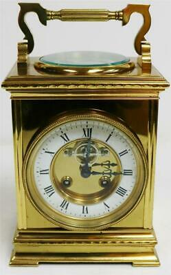 Rare Antique French Giant Brass Thermometer Compass Combination Carriage Clock