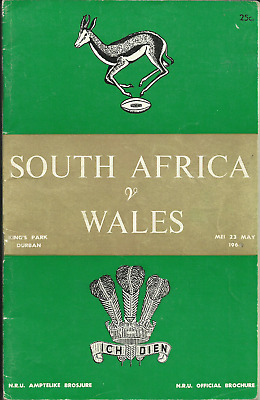 23.5.1964 SOUTH AFRICA v WALES, Test Match, Kings Park, Durban, EXC!