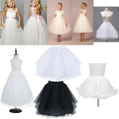 Kids Wedding Pettiskirt Petticoat Flower Girls Children Underskirt Dress Slip