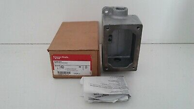 """New In Box! Eaton Crouse-Hinds 3/4"""" Single Gang Device Body Edsc271"""